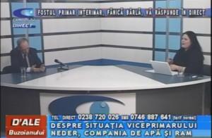 FOSTUL PRIMAR INTERIMAR FĂNICĂ BÂRLĂ, LA CAMPUS TV