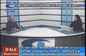 CONSILIERUL LOCAL ION BARBU, LA CAMPUS TV
