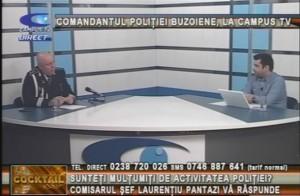 COMANDANTUL POLIŢIEI BUZOIENE, LA CAMPUS TV