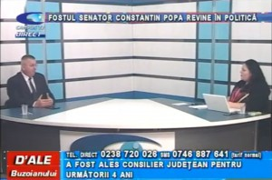 FOSTUL SENATOR CONSTANTIN POPA REVINE ÎN POLITICĂ