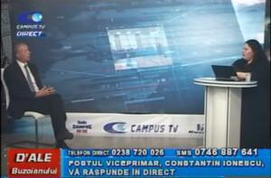 FOSTUL VICEPRIMAR CONSTANTIN IONESCU, LA CAMPUS TV