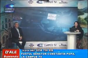 FOSTUL SENATOR CONSTANTIN POPA, LA CAMPUS TV