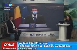 PREȘEDINTELE PNL BUZĂU, GABRIEL AVRĂMESCU, LA CAMPUS TV
