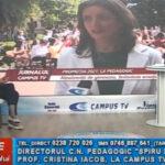 """Directorul Colegiului Național Pedagogic """"Spiru Haret"""", prof. Cristina Iacob, la Campus Tv"""