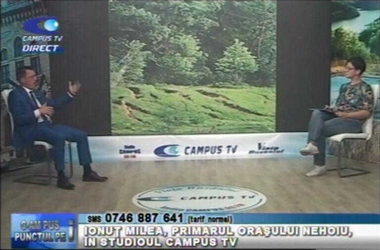 Ionuț Milea, primarul orașului Nehoiu, în studioul Campus Tv