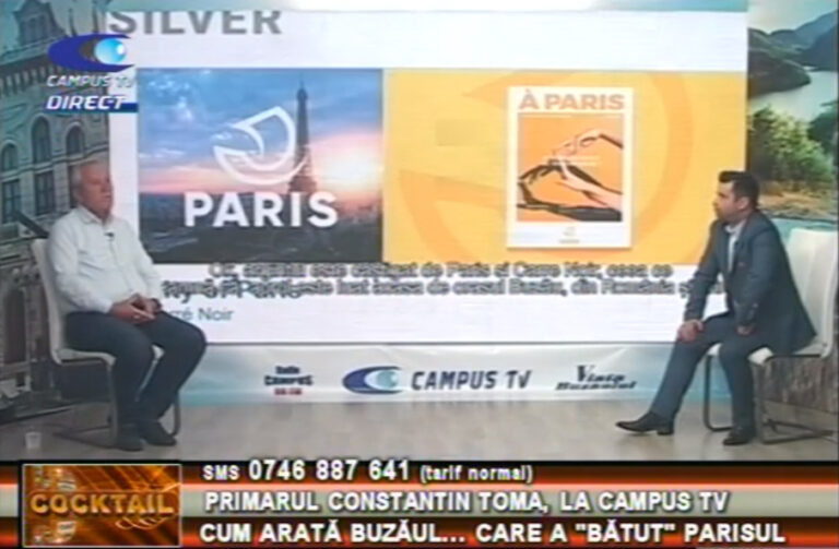 """Primarul Constantin Toma, la Campus Tv. Cum arată Buzăul... care """"a bătut"""" Parisul"""
