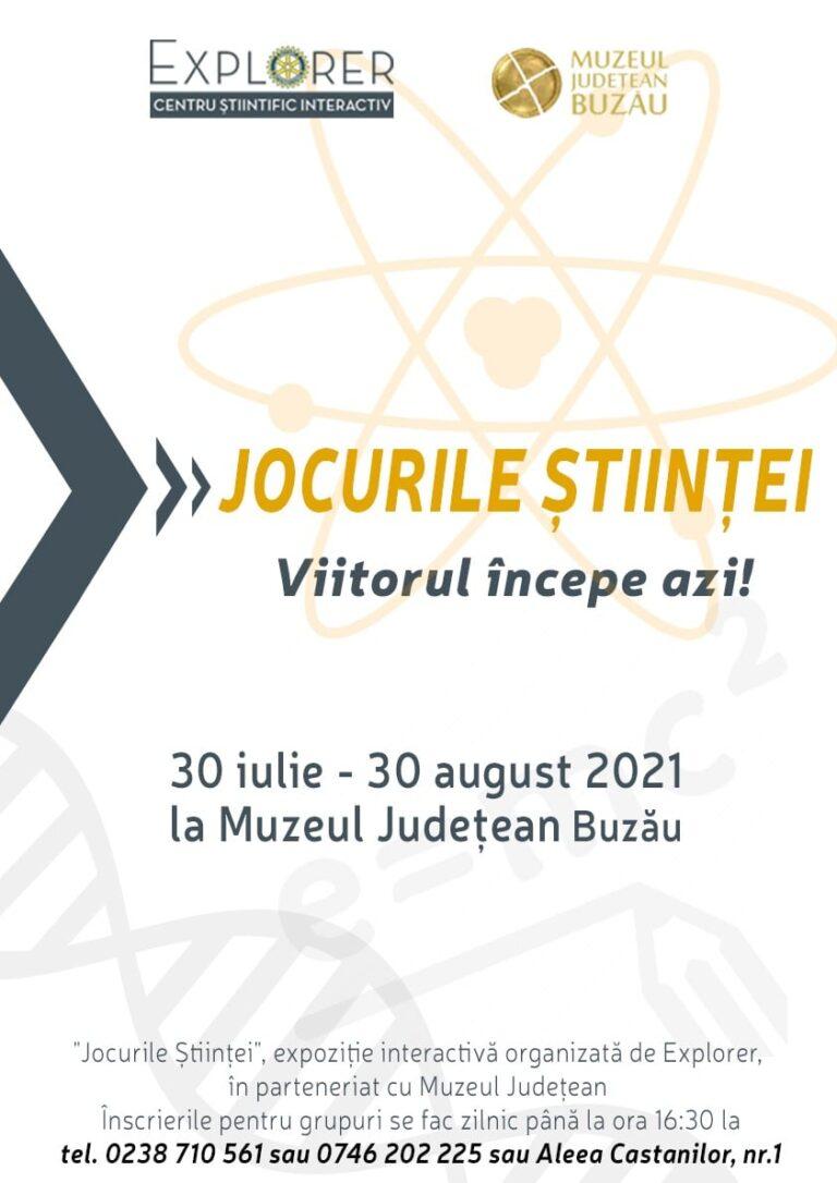 """Viitorul începe azi. Expoziția interactivă """"Jocurile Ştiinţei"""" revine la Buzău"""