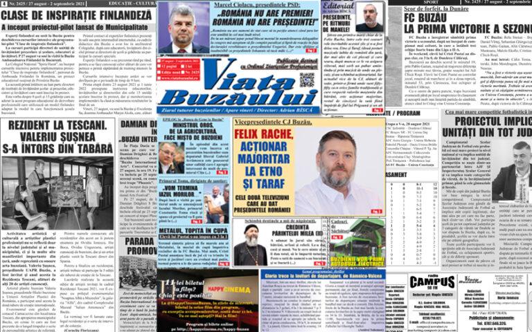 Viața Buzăului, un nou număr al săptămânalui: știri, anchete și dezvăluiri
