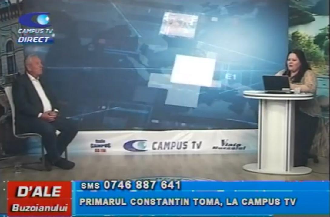 Primarul Constantin Toma, la CAMPUS TV