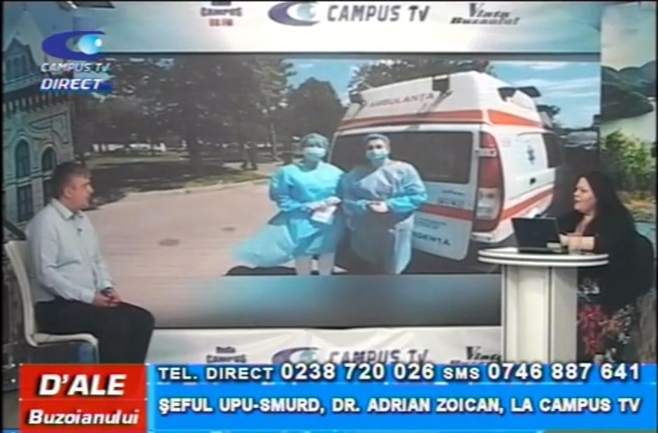 Șeful UPU-SPURD, dr. Adrian Zoican, la CAMPUS TV
