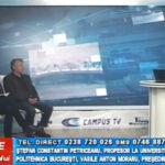 Ștefan Constantin Petriceanu, profesor la Universitatea Politehnică București, și președintele AGIR Buzău, Vasile Anton Moraru, invitați la CAMPUS TV