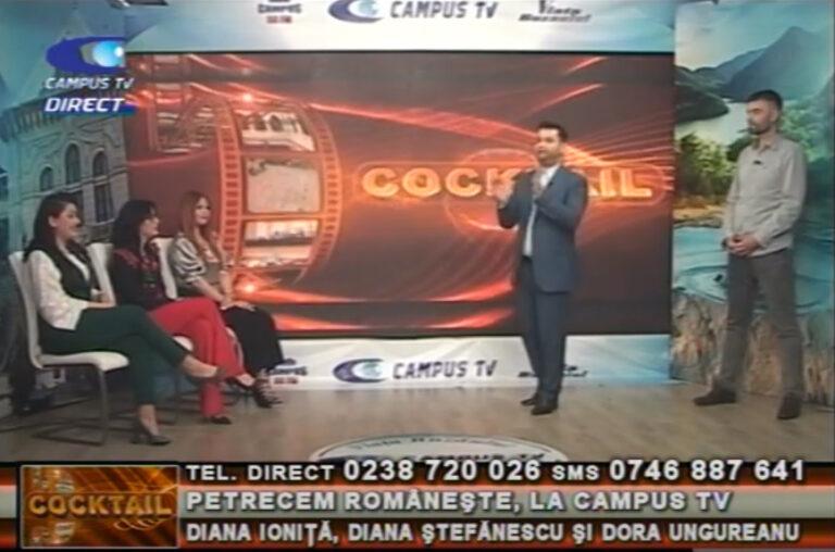 Petrecem românește, la CAMPUS TV! Diana Ioniță, Diana Ștefănescu și Dora Ungureanu