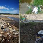 Tone de deșeuri în albiile râurilor. Comisarii de mediu au împărțit amenzi.