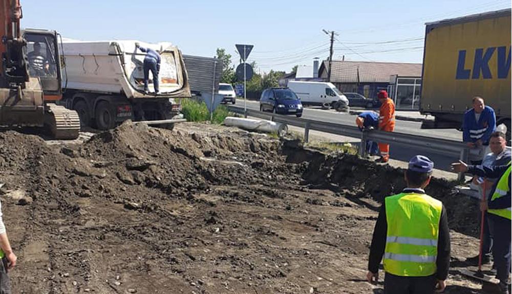 Noi lucrări la Spătaru. Se va facilita accesul în intersecţie a maşinilor de mare tonaj