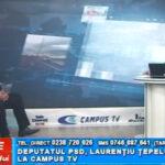 Deputatul PSD Laurențiu Țepeluș, la CAMPUS TV