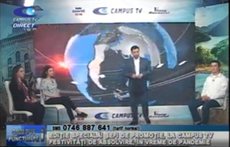 Șefi de promoție, la CAMPUS TV