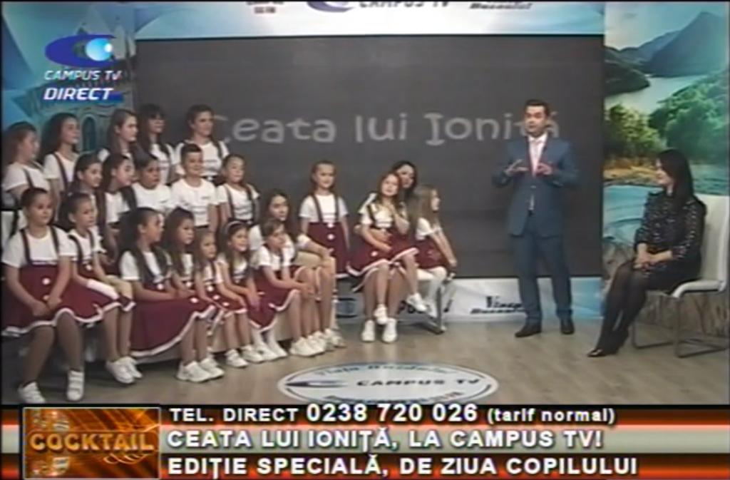 Ceata lui Ioniță, la CAMPUS TV. Ediție specială, de Ziua Copilului