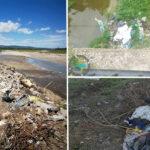 Tone de deşeuri în albiile râurilor. Comisarii de mediu au împărţit amenzi