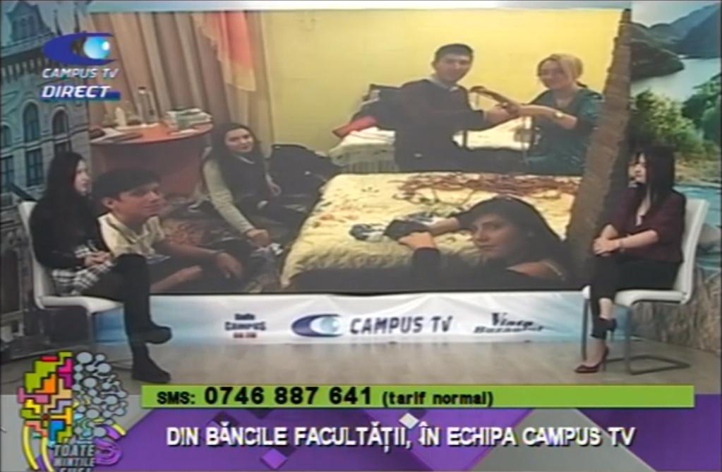 Din băncile facultății, în echipa CAMPUS TV