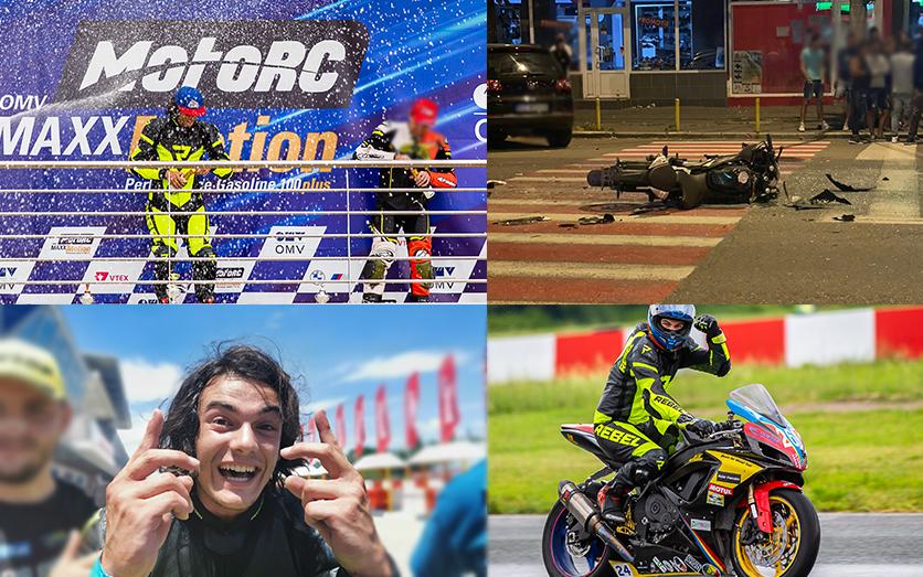 Vicecampion european la motociclism, rănit. Un taximetrist i-a tăiat calea tânărului