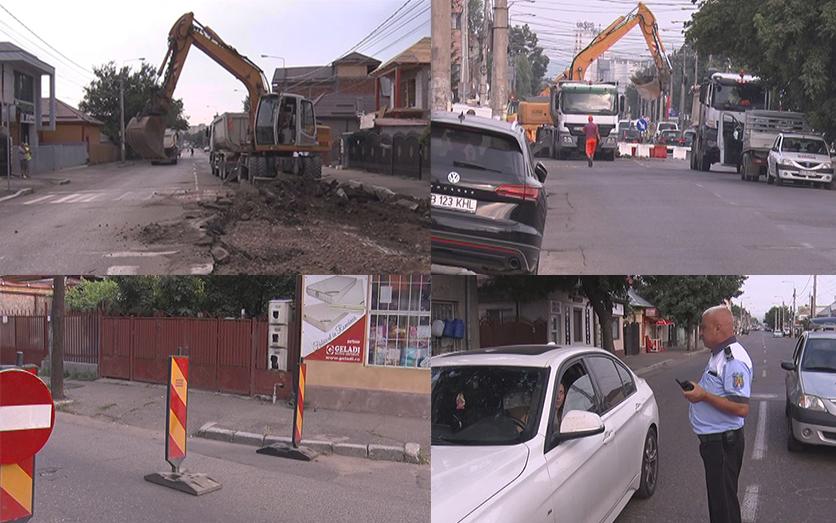 Circulaţie oprită pe Transilvaniei. Agenților economici le-au fost acordate unele facilități