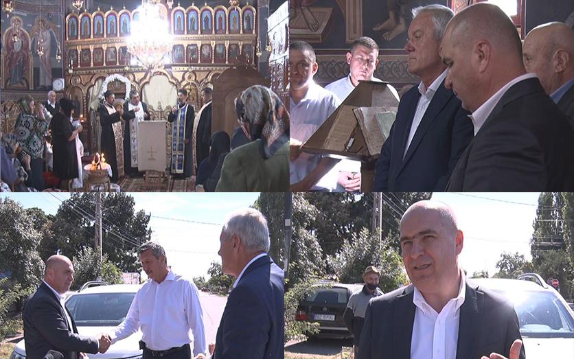 În vizită la Țintești. Ilie Bolojan a participat la hramul bisericii