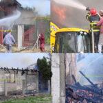 Incendiu puternic, la Mărăcineni. Două case au fost cuprinse de flăcări