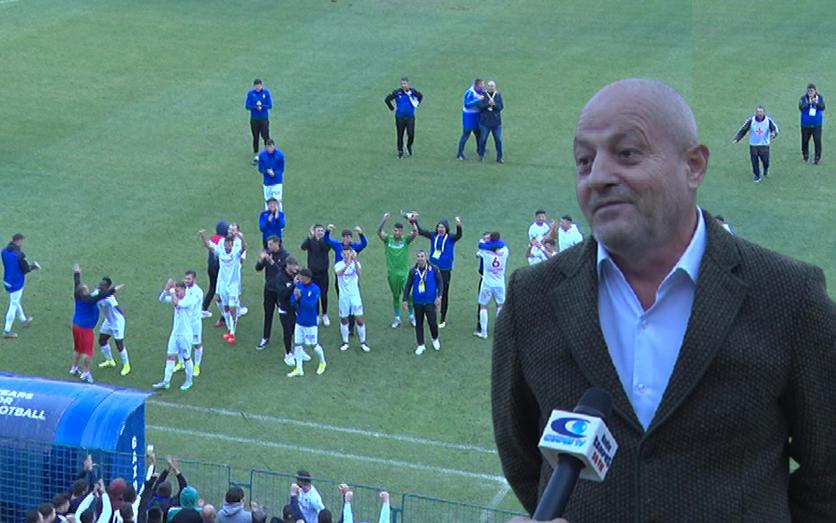 Un președinte bucuros. Şeful C.J. a asistat la tot meciul din Cupă