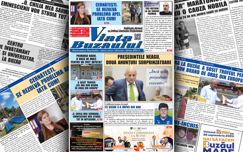 Viața Buzăului, o nouă ediţie a săptămânalului. 12 pagini de știri, anchete și dezvăluiri