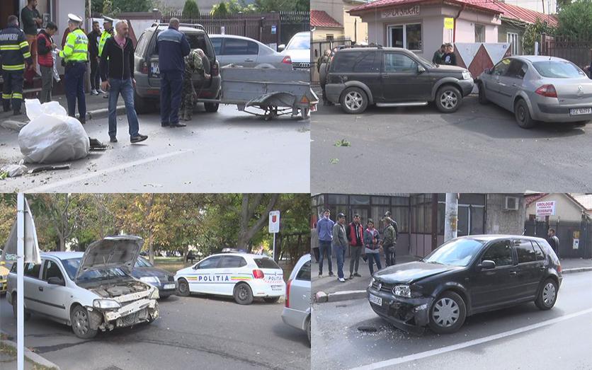 Cinci mașini, accident lângă Hasdeu