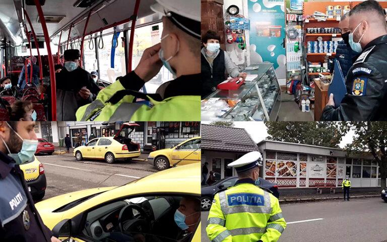 Verificări în spațiile publice-Polițiștii au aplicat peste 200 de sancțiuni