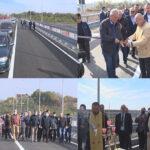 A fost  inaugurat podul de la Vadu Pașii. S-a tăiat panglica la ambele capete